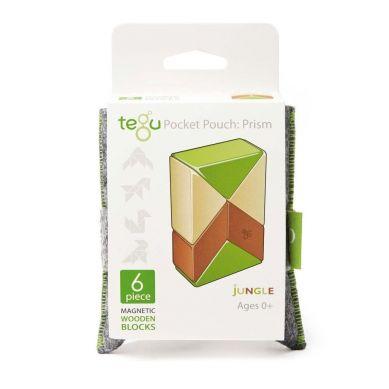 Tegu - Drewniane Klocki Magnetyczne Pocket Pouch Prism Jungle