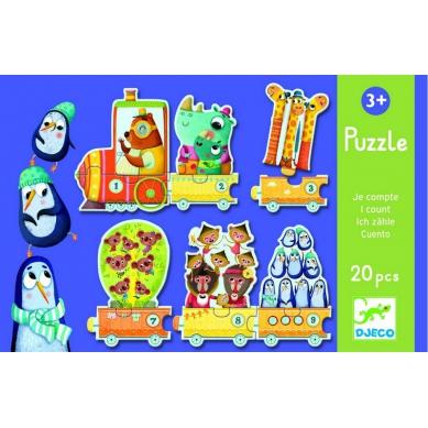 Djeco Puzzle Pociąg