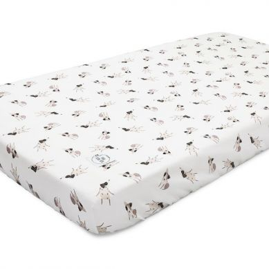 Maki Mon Ami - Bawełniane Prześcieradło z Gumką 70x140 cm Terrier Happy Pieski