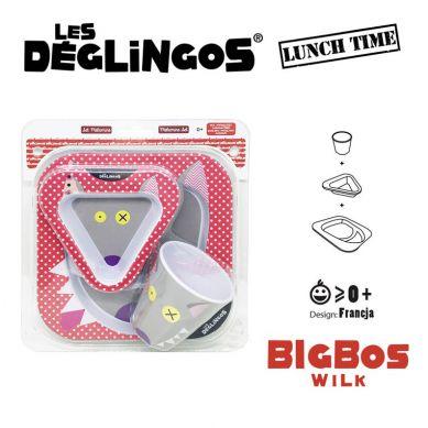 Les Deglingos - Zestaw 3 częściowy z Melaminy Wilk Bigbos