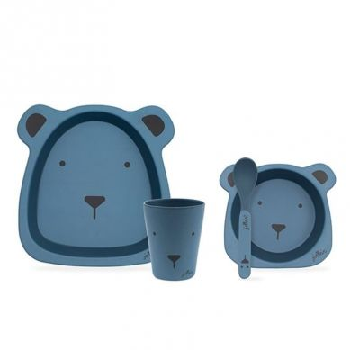 Jollein - EKO Zastawa Bambusowa Animal Steel Blue