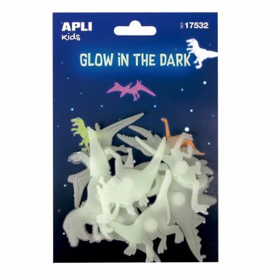 Apli Kids - Fluorescencyjne Naklejki Dinozaury 3+