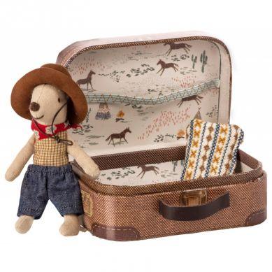 Maileg - Przytulanka Myszka Cowboy w walizce