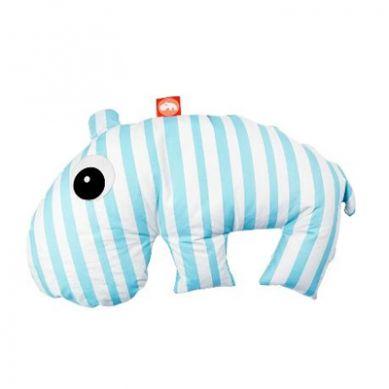 Done By Deer - Poduszka 3 w 1 Hipopotam Niebieski