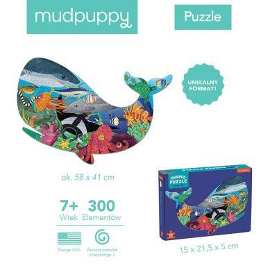 Mudpuppy - Puzzle Ksztaty Życie Oceanu 300el. 7+