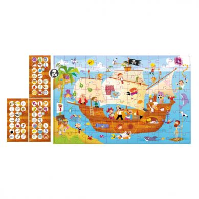 Apli Kids - Puzzle Obserwacyjne Statek Piratów 104 el. 5+