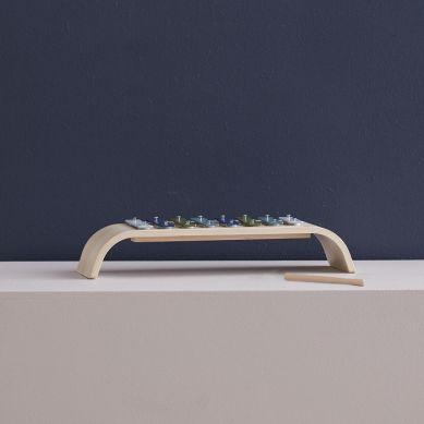 Kids Concept - Cymbałki Drewniane Multi Blue