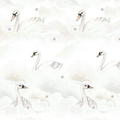 Dekornik - Tapeta Swans