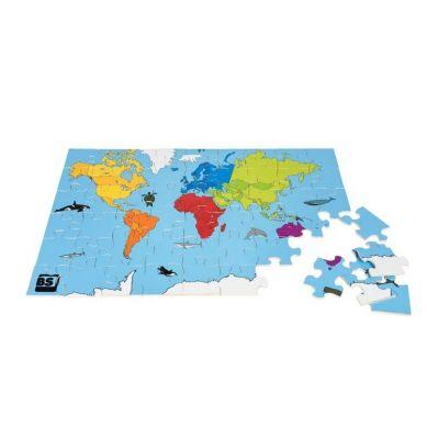 Buiten Speel - Puzzle Mapa Świata 3+