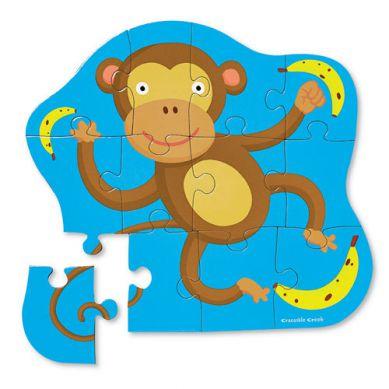 Crocodile Creek - Puzzle Podłogowe 12 Mała Małpka