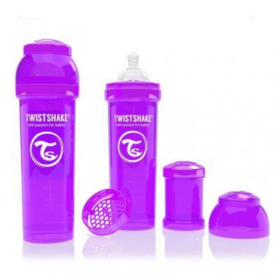 Twistshake - Butelka Anty-kolkowa 330ml Fioletowa