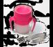 LiteCup - Świecący Kubeczek Niekapek z Uchwytami Różowy
