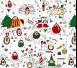 Lullalove - Świąteczna Frotka Bawełniana Jeże