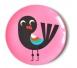 OMM Design Talerz Ptak na Różowym Tle