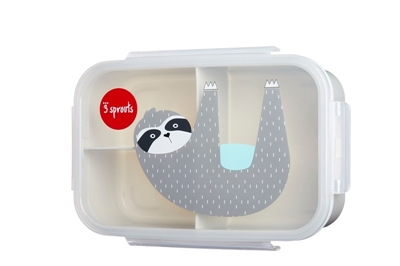 3 Sprouts - Lunchbox Bento Leniwiec Grey