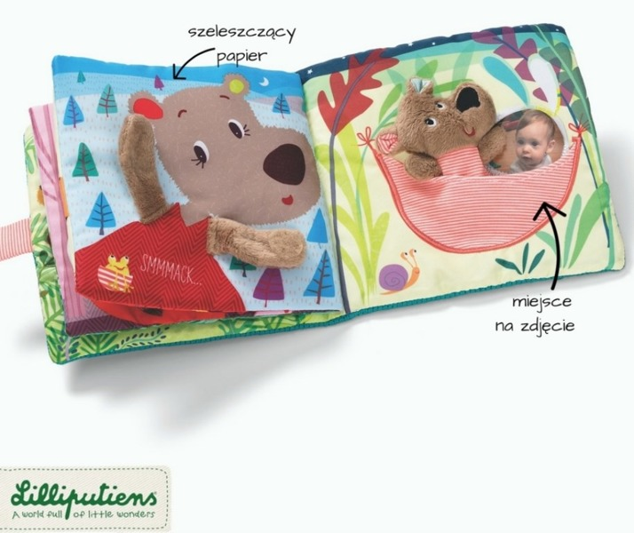 """Lilliputiens - Książeczka Wielofunkcyjna z Pacynką """"Kiss Cesar"""" 1+"""