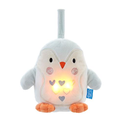 Gro Company - Szumiąca Przytulanka z Czujnikiem Płaczu i Lampką Nocną Pingwin Percy