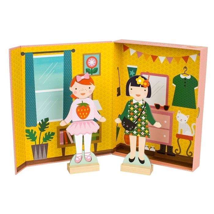 Petit Collage - Magnetyczne Ubieranki Dziewczynki