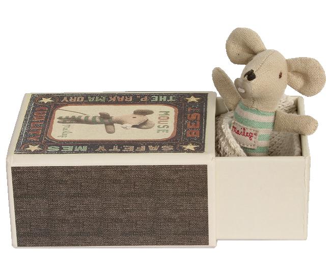Maileg - Przytulanka Myszka Baby Boy w Pudełeczku