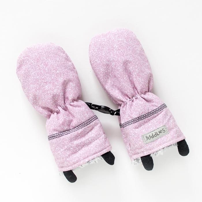 Juddlies - Rękawiczki Salt& Pepper Pink S 0-6m