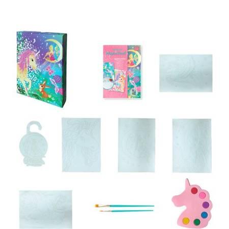 Box Candiy - Zestaw Artystyczny Akwarele Jednorożec i Wróżka 6+