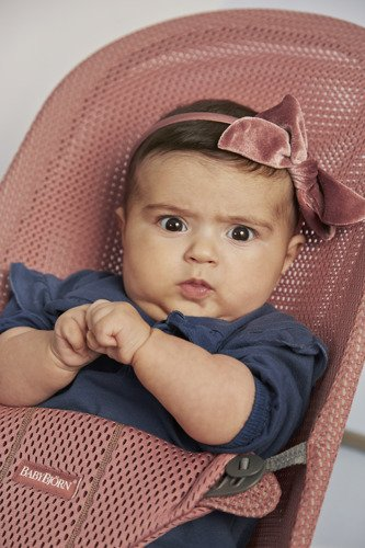 BabyBjorn - Leżaczek Bliss Mesh Różowy