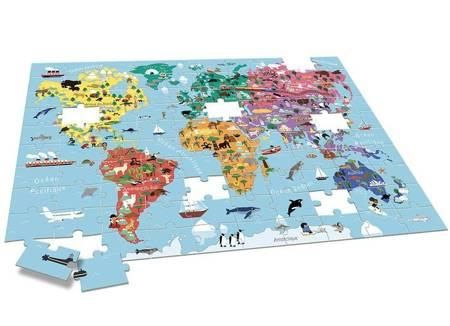Auzou - Puzzle Zwierzęta Świata 100 el. 3+