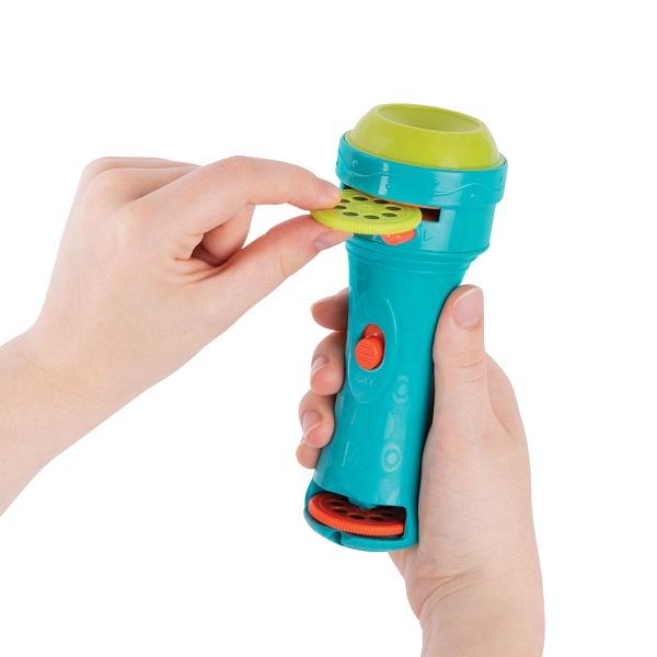 B. Toys - Projektor - Latarka z Wkładkami do Wyświetlania - Niebieski 4+