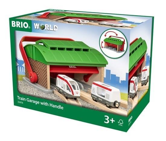 BRIO - Garaż dla Pociągów z Rączką