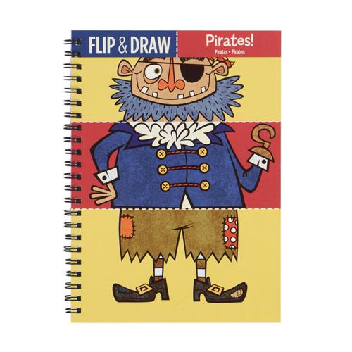 Mudpuppy - Zeszyt do Rysowania Potrójny Piraci