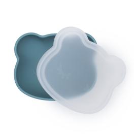 We Might Be Tiny - Silikonowa miseczka z przyssawką i pokrywką Blue Dusk
