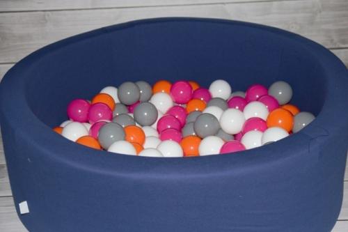 Misioo - Suchy Basen z 200 Piłeczkami 40 cm Granatowy + 50 Dodatkowych Piłek