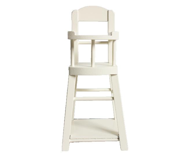 Maileg - Krzesełko do Karmienia dla Przytulanki Króliczka 16cm White