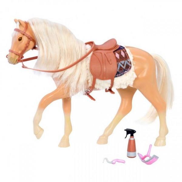 Lori - Szary Koń Rasy American Quarter z Akcesoriami do Pielęgnacji