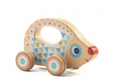 Djeco - Drewniana Zabawka na Kółkach Baby Rouli