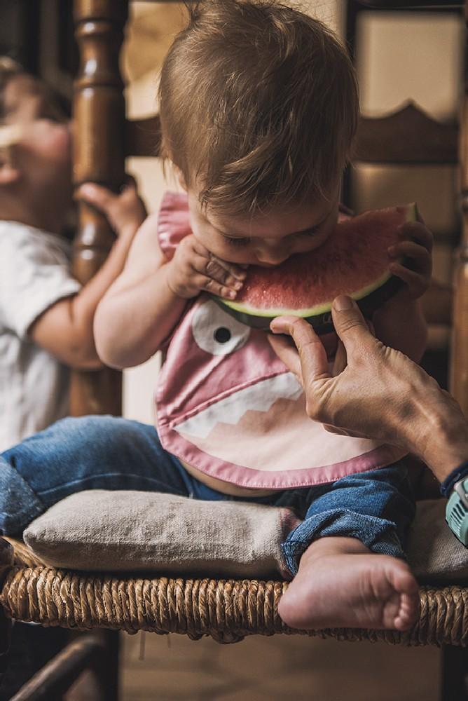 Baby Bites - Śliniak Nieprzemakalny Różowy