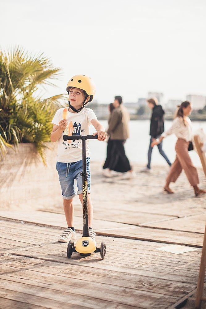 Scootandride - Kask S-M dla Dzieci 3+ Lemon Kolekcja Icecream
