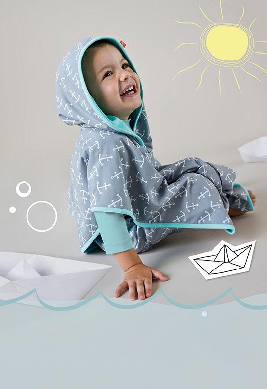 Lassig - Ręcznik Poncho Jolly Dots