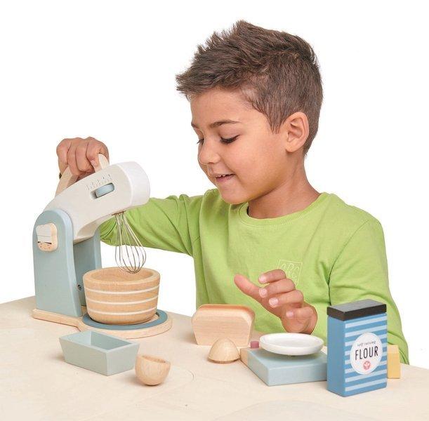 Tender Leaf Toys - Drewniany Mikser z Zestawem do Pieczenia Mini Chef 3+