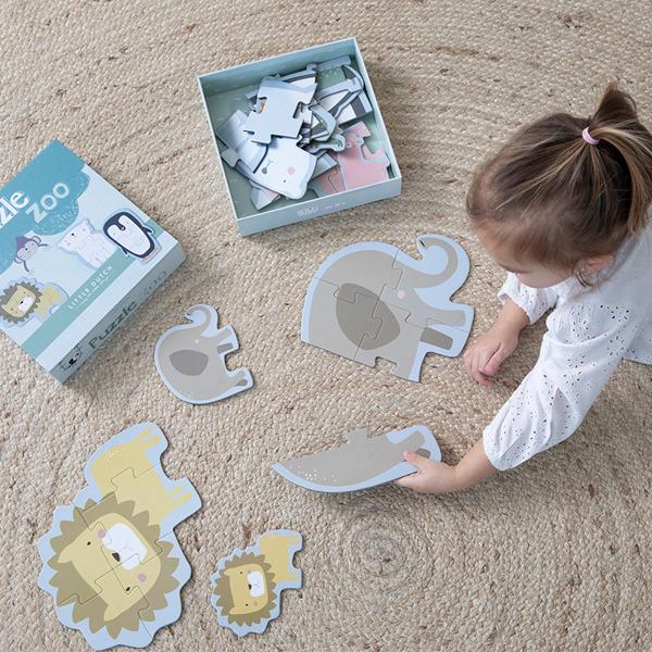 Little Dutch - Puzzle 6 Elementów Zoo 2+