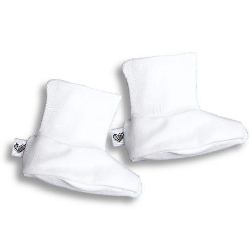 Nanaf Organic - Buciki Basic Białe 62cm