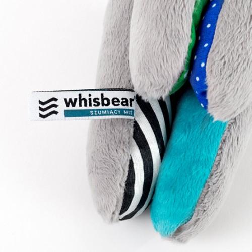 Whisbear - Szumiący Miś Soft z Funkcją CrySensor Turkus