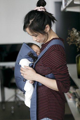 BabyBjorn - Nosidełko Mini Cotton Niebieski