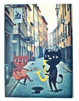 OMM Design Zestaw Pocztówek Przyjaciele w Stockholmie