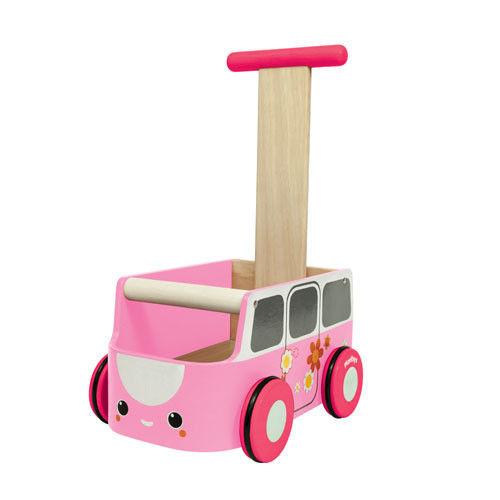 Plan Toys - Drewniany Chodzik Różowy Van