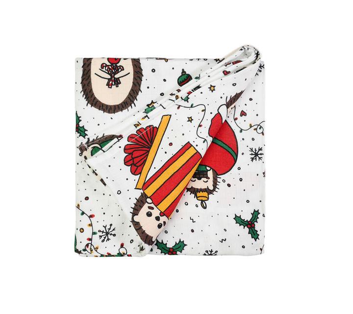 Lullalove - Bawełniana Pościel 100x135 cm Jeże Święta