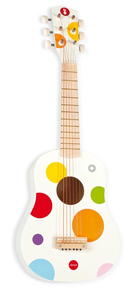 Gitara Biała Confetti Janod 3+