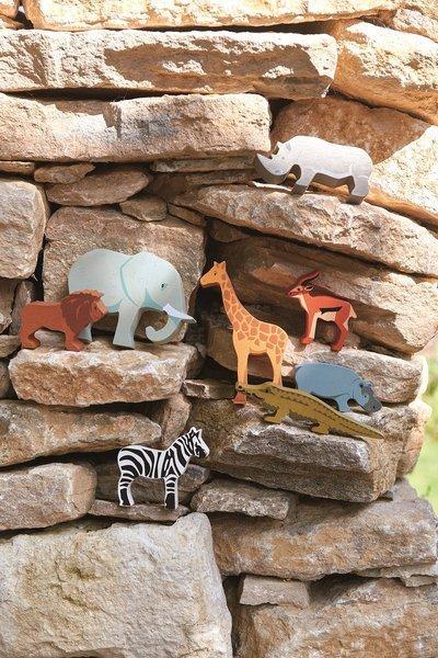 Tender Leaf Toys - Drewniane Figurki do Zabawy Zwierzęta Safari 3+