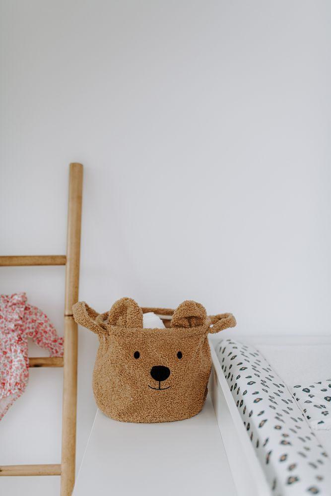 Childhome - Pluszowy Pojemnik na Zabawki 25 x 20 x 20 cm Teddy Bear