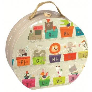 Janod - Puzzle Podłogowe Alfabet 27 Elementów